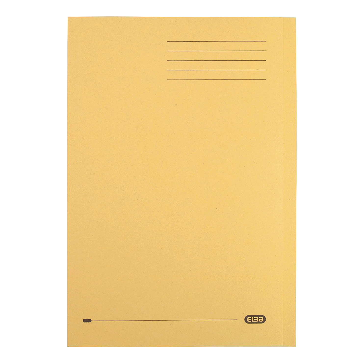 Elba Foolscap Square Cut Folder Recycled Mediumweight 285gsm Manilla Yellow Ref 100090223 Pack 100