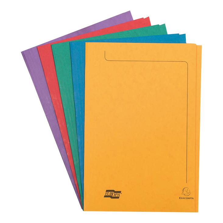 Europa Square Cut Folders 265gsm Pressboard A4 Assorted Ref 4820 Pack 50