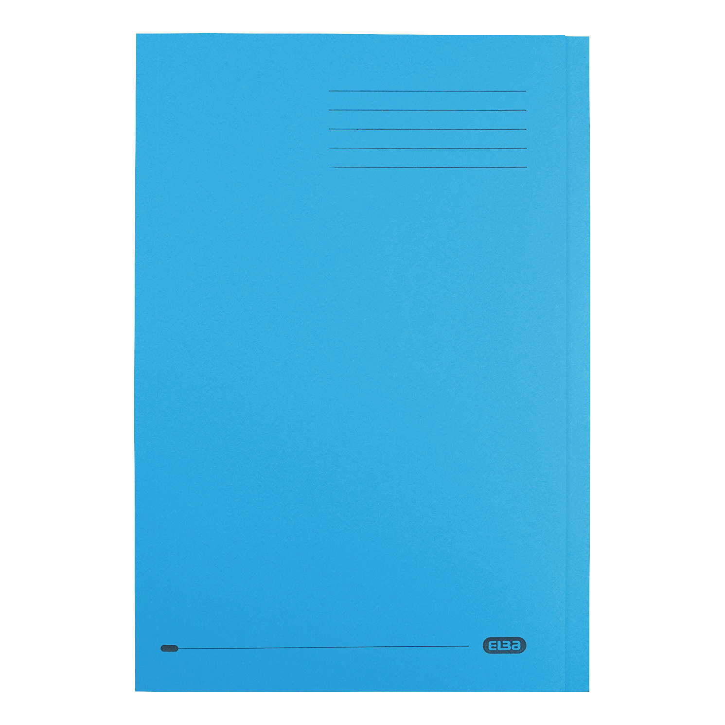 Elba StrongLine Square Cut Folder Heavyweight 320gsm 32mm Foolscap Blue Ref 100090020 [Pack 50]