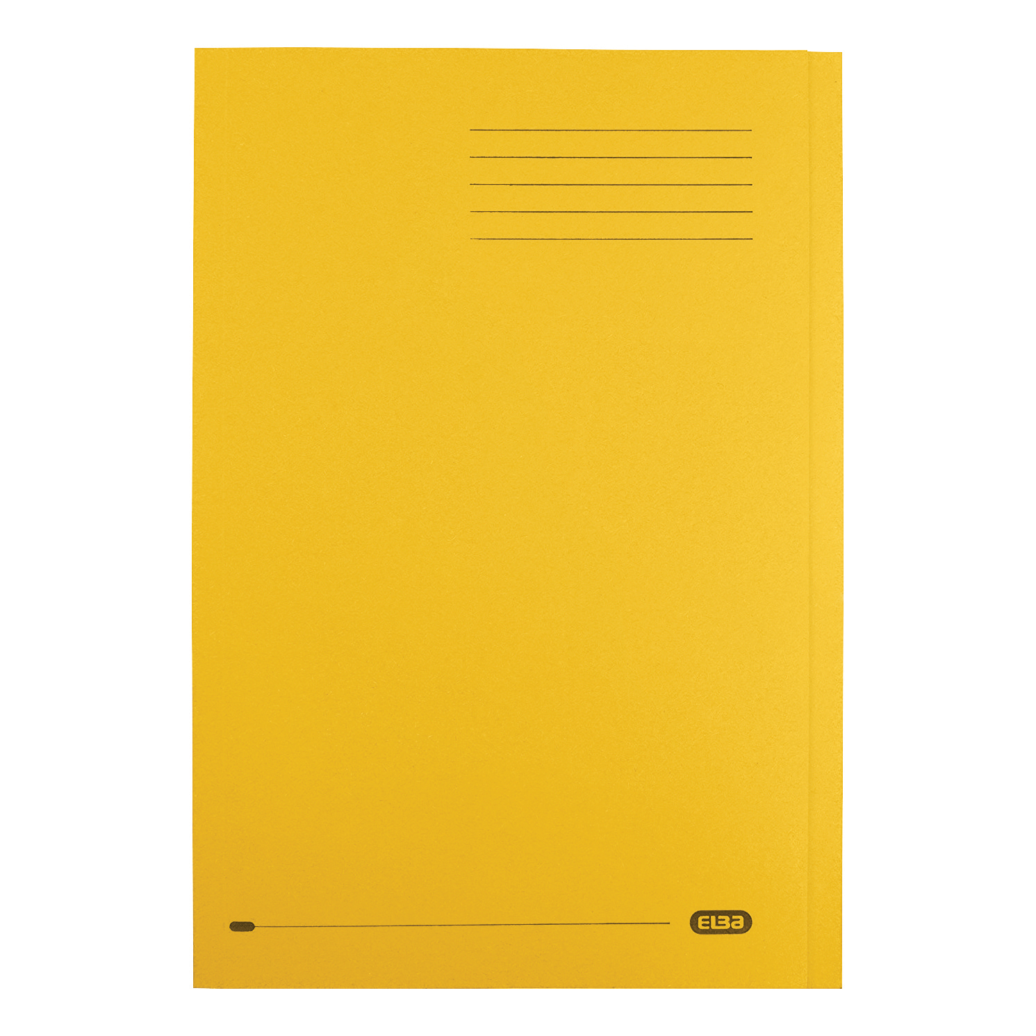 Elba StrongLine Square Cut Folder Heavyweight 320gsm 32mm Foolscap Yellow Ref 100090023 [Pack 50]
