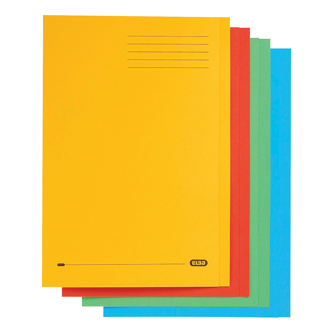 Elba StrongLine Square Cut Folder 320gsm 32mm Foolscap Assorted Ref 100090267 [Pack 50] [REDEMPTION]