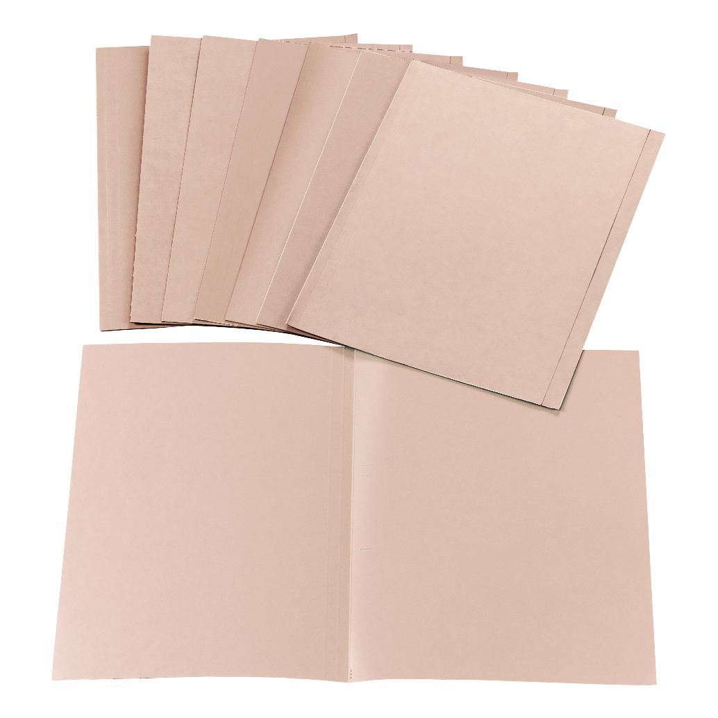 5 Star Office Square Cut Folder Recycled 170gsm Foolscap Buff [Pack 100]