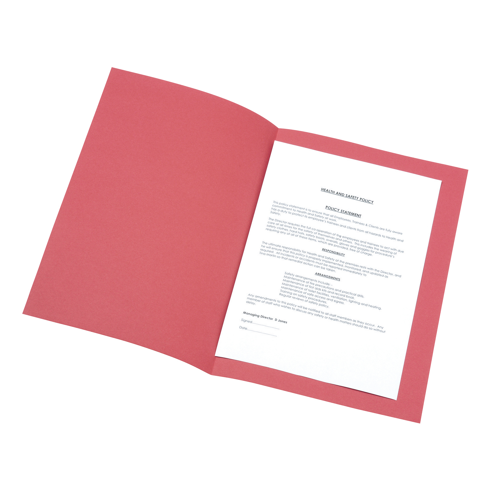 5 Star Office Square Cut Folder Recycled 180gsm Foolscap Red Pack 100