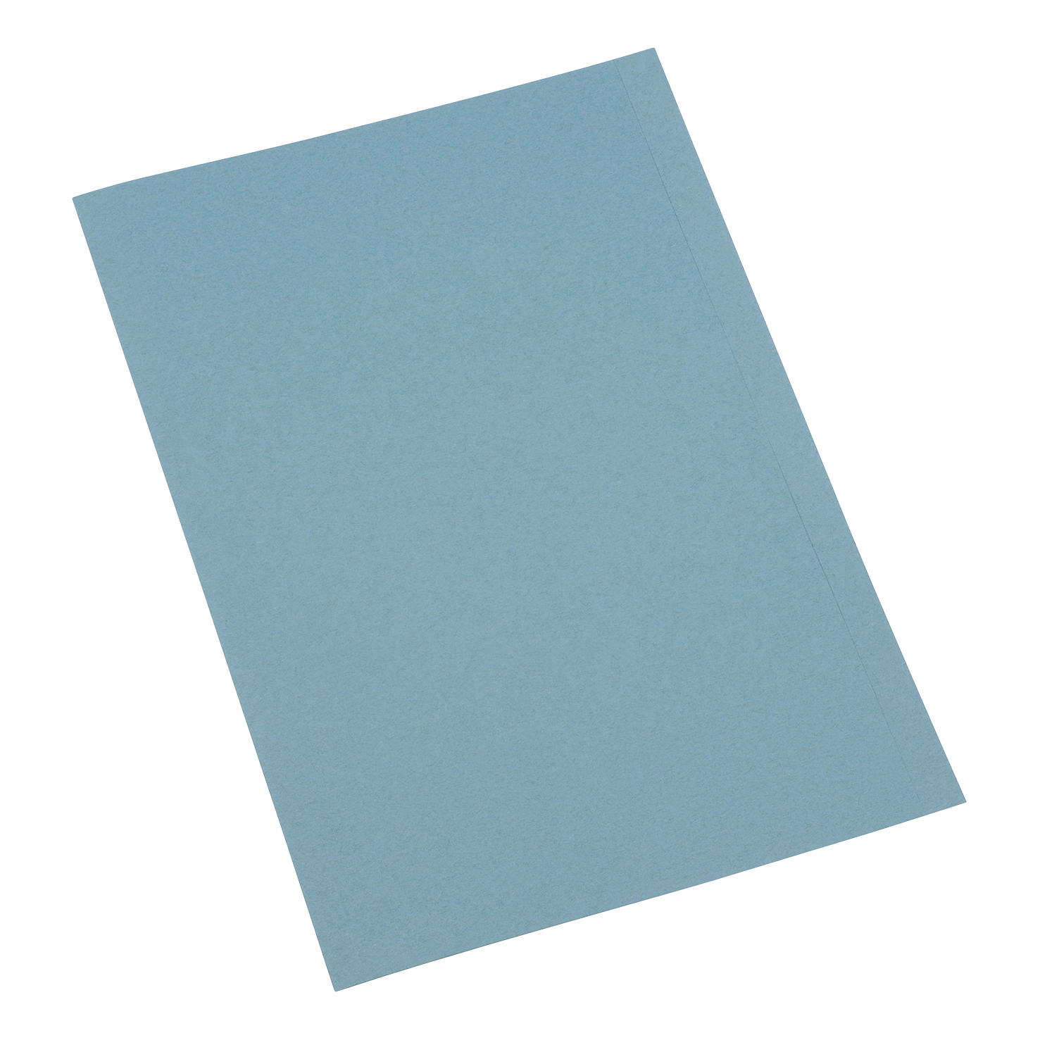 5 Star Office Square Cut Folder Recycled Pre-punched 250gsm A4 Blue [Pack 100]