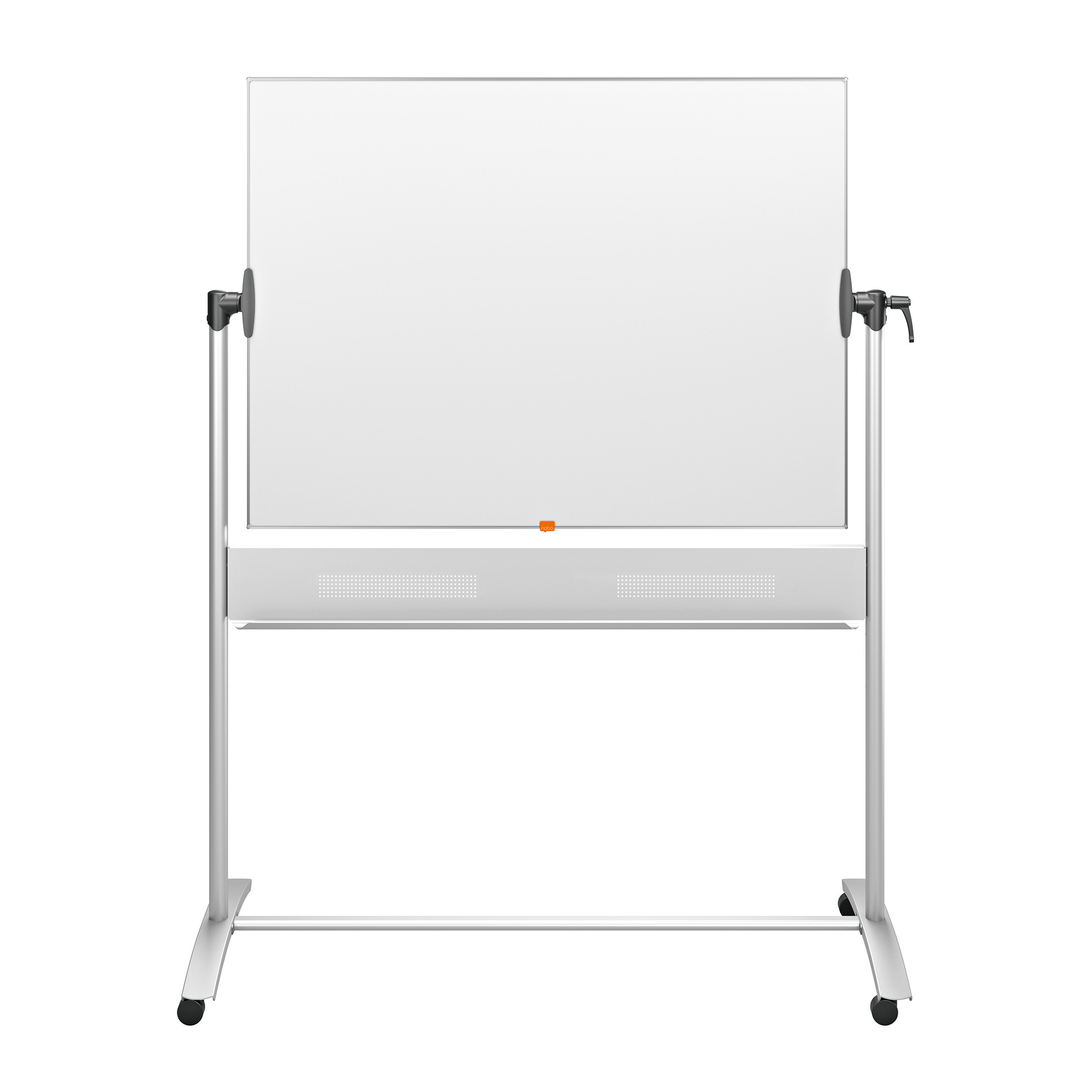Magnetic Nobo Mobile Nano Clean Whiteboard Easel Magnetic Steel Horizontal Pivot W1200xH900mm Board Ref 1901029