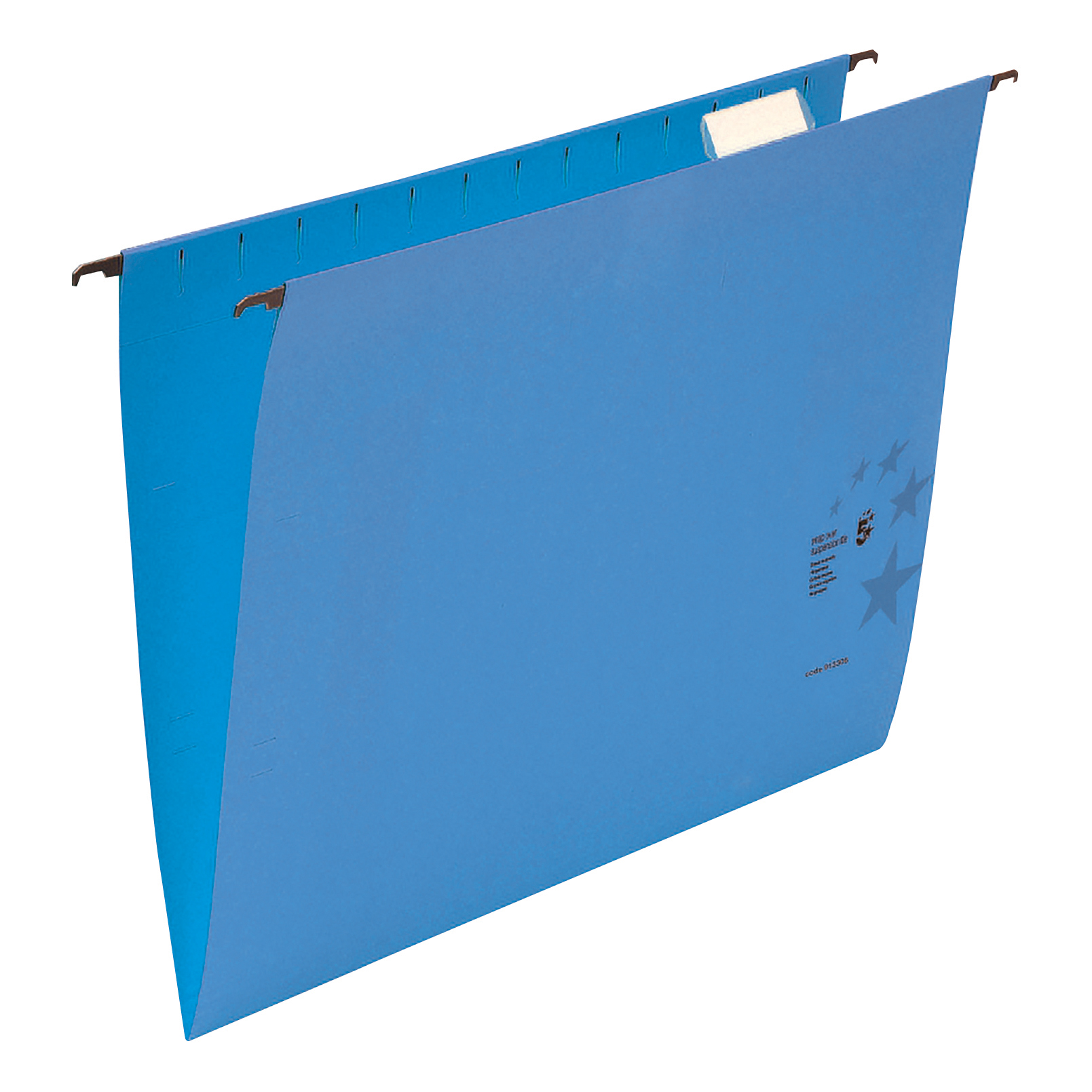 Suspension File 5 Star Office Suspension File with Tabs and Inserts Manilla 15mm V-base 230gsm Foolscap Blue Pack 50