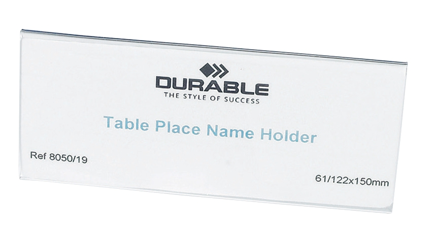 Durable Table Place Name Holder 63x150mm Ref 8050 [Pack 25]