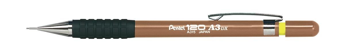 Image for Pentel A300 Automatic Pencil with Rubber Grip and 2 x HB 0.9mm Lead Sand Barrel Ref A319-Y [Pack 12]