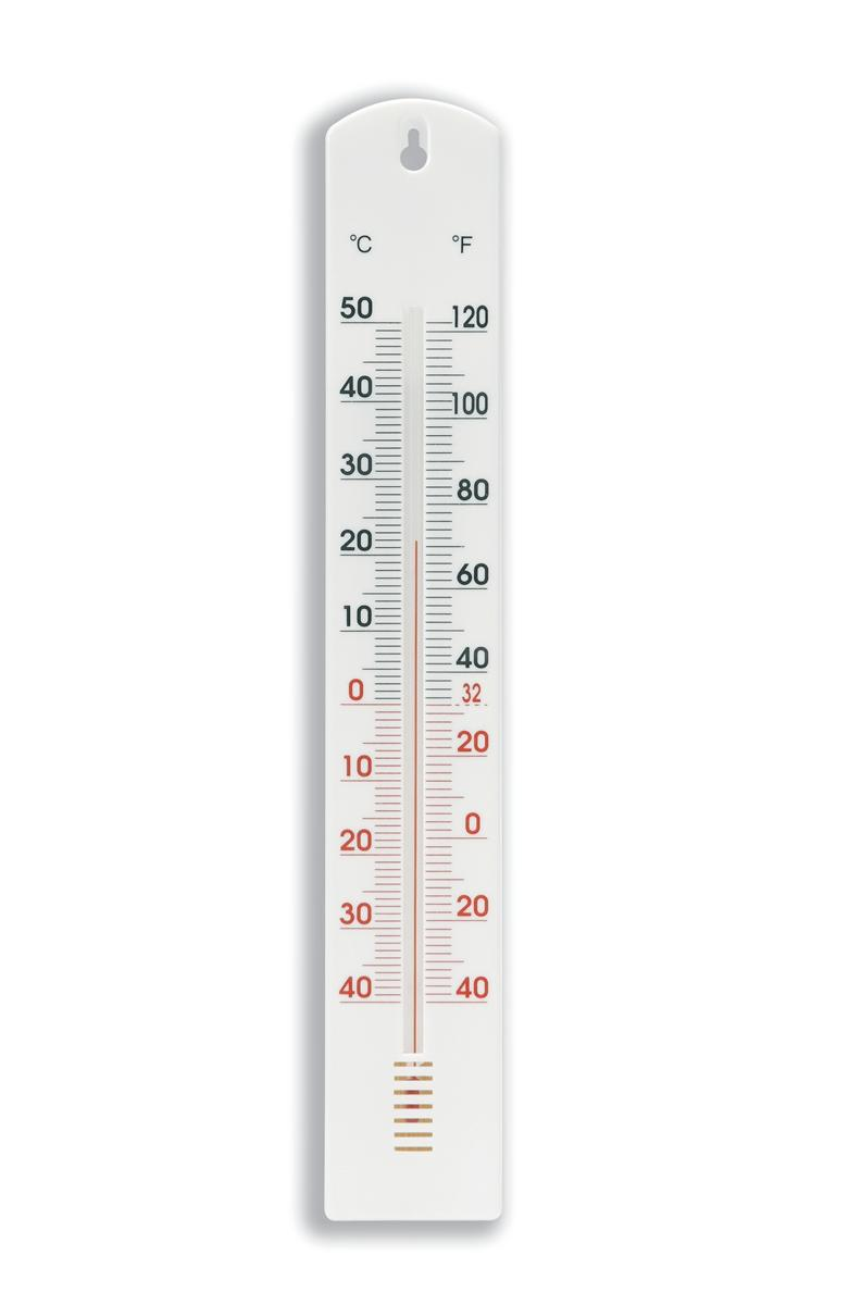 Basic Thermometer for Home or Workplace Alcohol in Glass Tube
