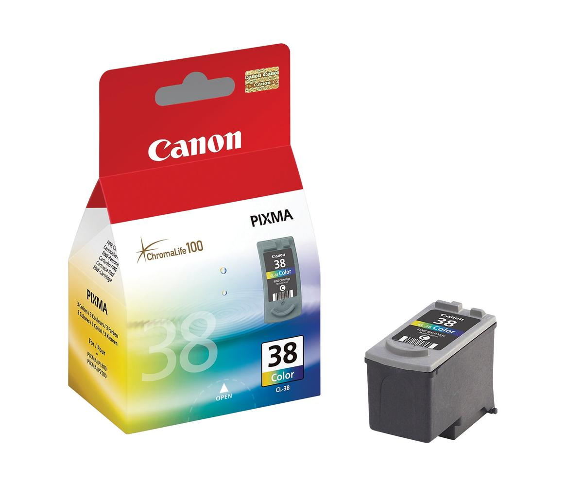 Canon CL-38 Inkjet Cartridge Page Life 205pp 9ml Colour Ref 2146B001