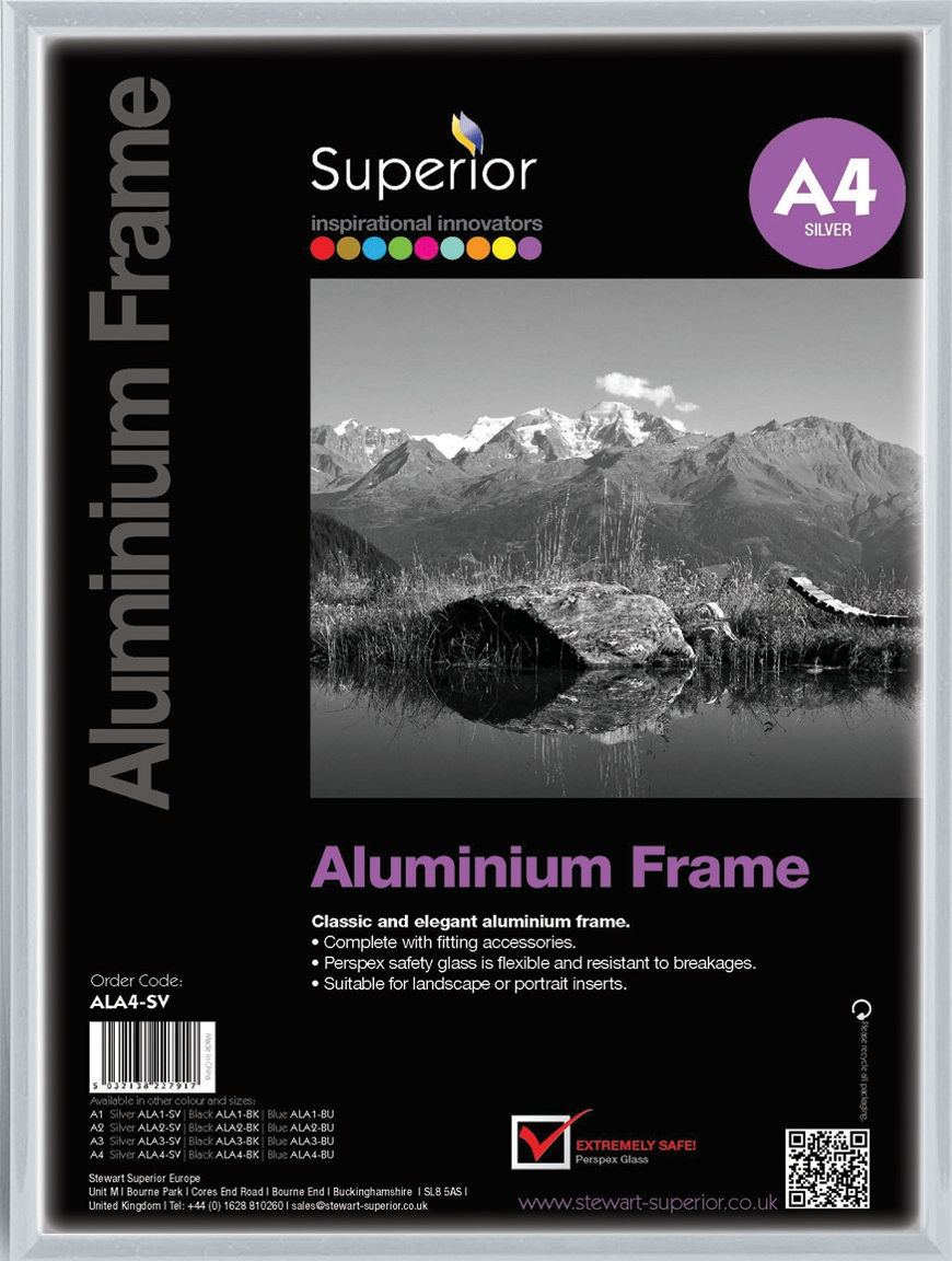Image for Photo Frame Clip In Aluminium with Clear Perspex Front A4