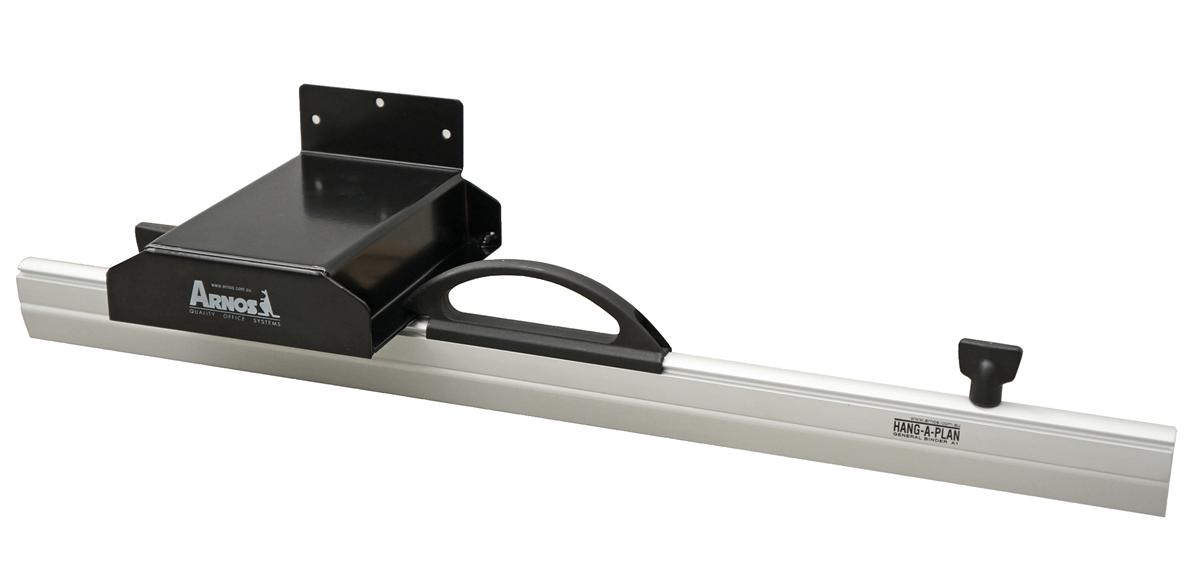 Image for Arnos Hang-A-Plan Front Load Wall Rack for 5 Binders A1 and A2 W140xD175xH80mm Ref D064