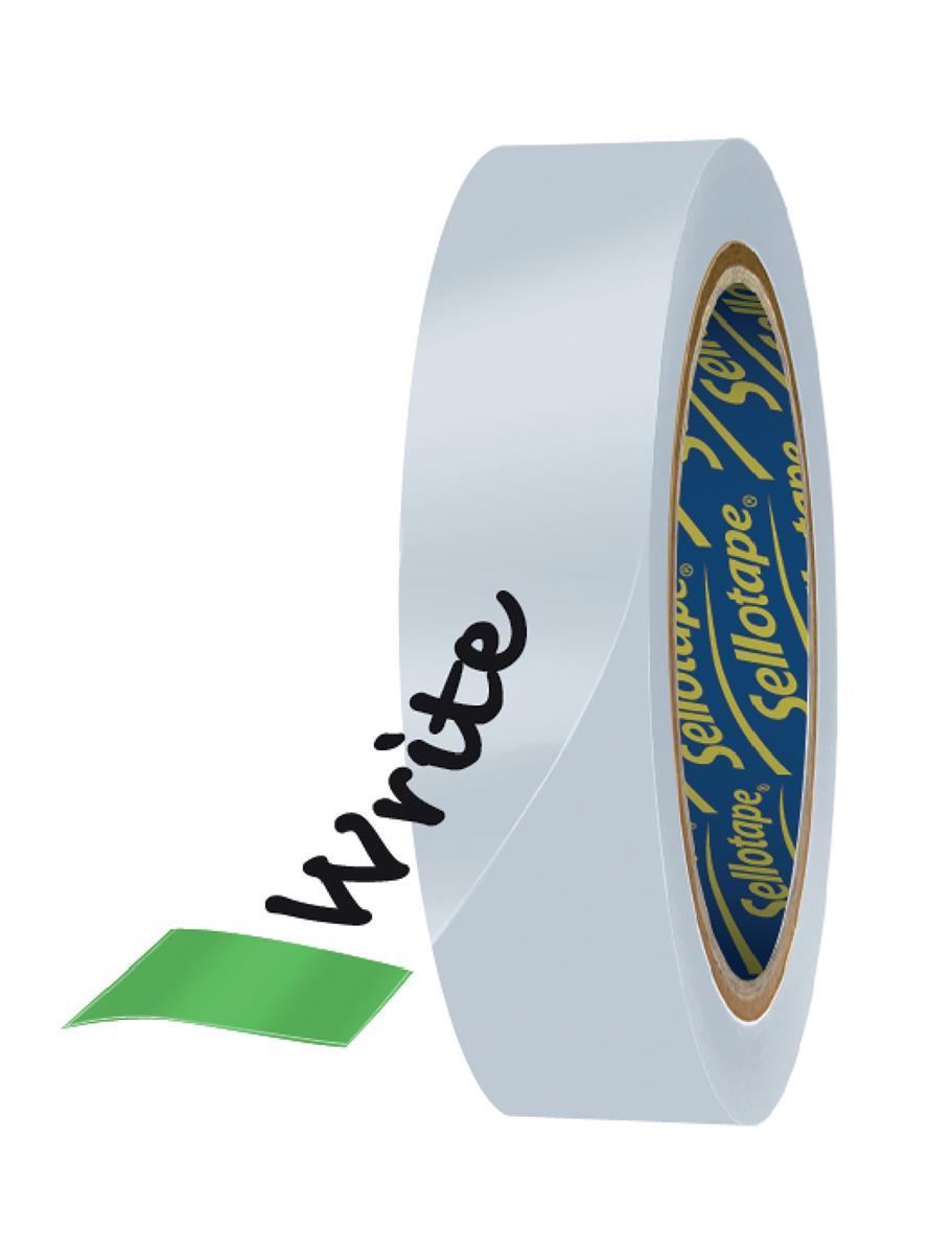 Image for Sellotape Clever Tape Dispenser Roll Write-on Copier-friendly Tearable 18mmx25m Matt Ref 1766010 [Pack 6]