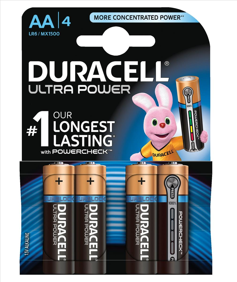 Image for Duracell Ultra Power MX1500 Batteries AA 1.5V Ref 81235491 [Pack 4]
