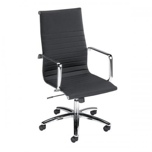 Image for Influx Breeze Executive Armchair Back H560mm Seat W490xD430xH480-560mm Black Ref F7A