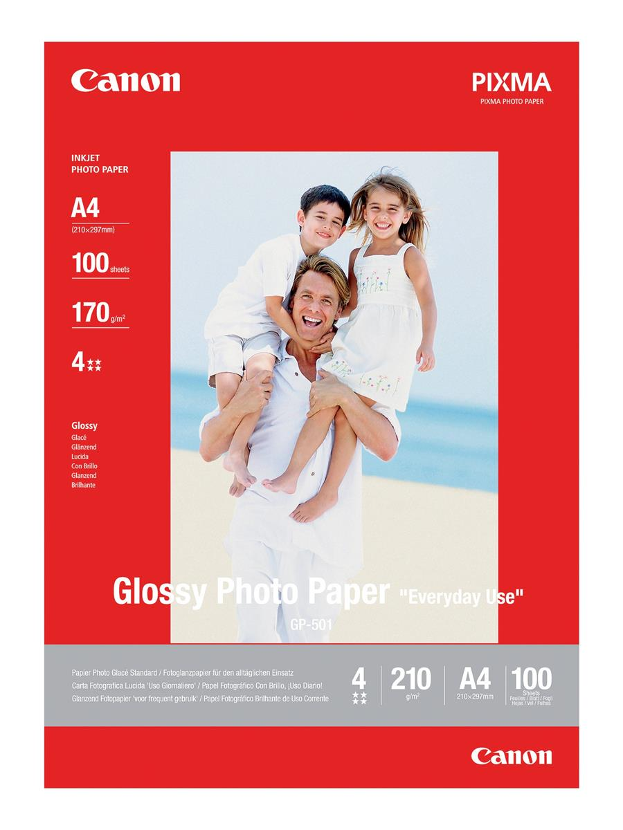 Image for Canon GP-501 Photo Paper Glossy A4 Ref 0775B001 [100 Sheets]