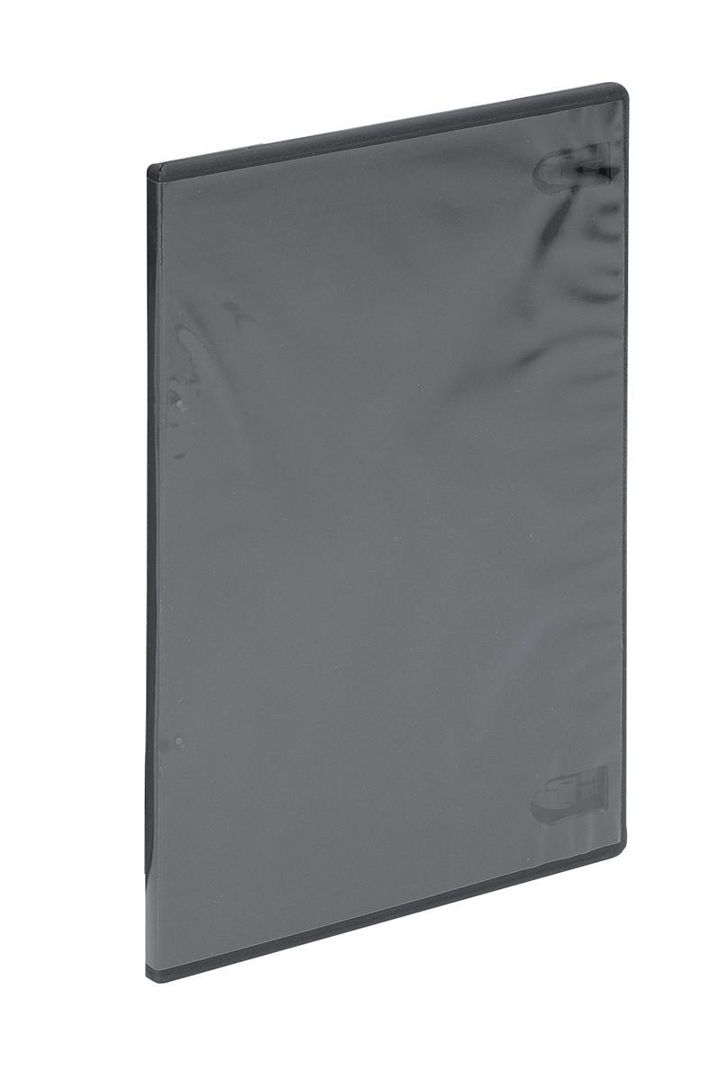 DVD Case Slimline Polypropylene for 1 Disk Black [Pack 5]