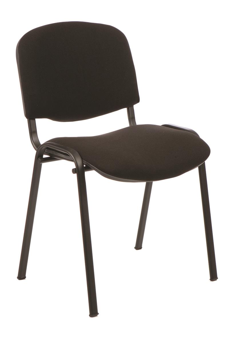 Trexus Stacking Chair Stackable Pre-assembled Fabric Black
