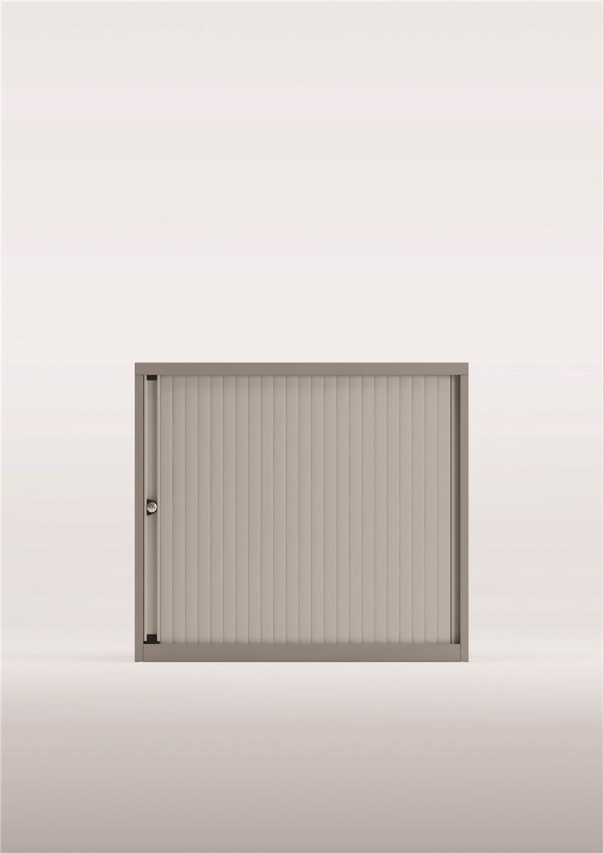 Bisley A4 EuroTambour Low Cupboard W800xD470xH693-708mm Silver Frame and Shutters Ref YETBDH0807/1S.SL