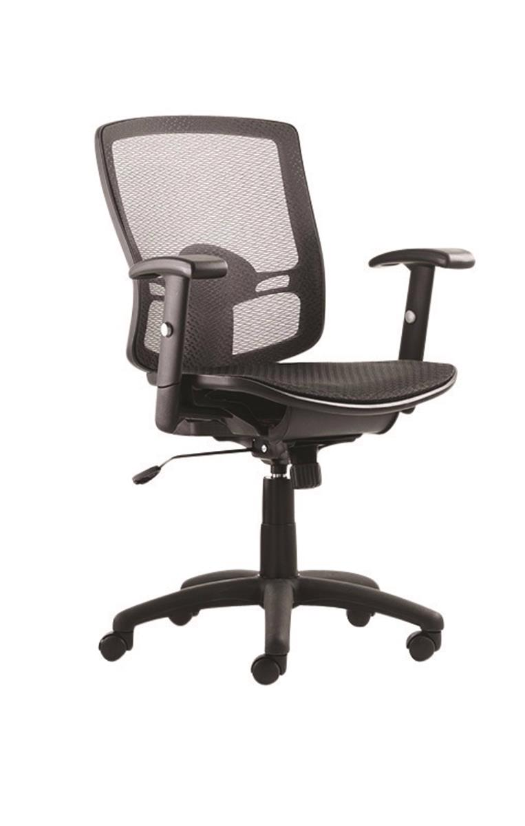Image for Influx Task All Mesh Armchair Seat W500xD500xH440-530mm Ref 11135-02