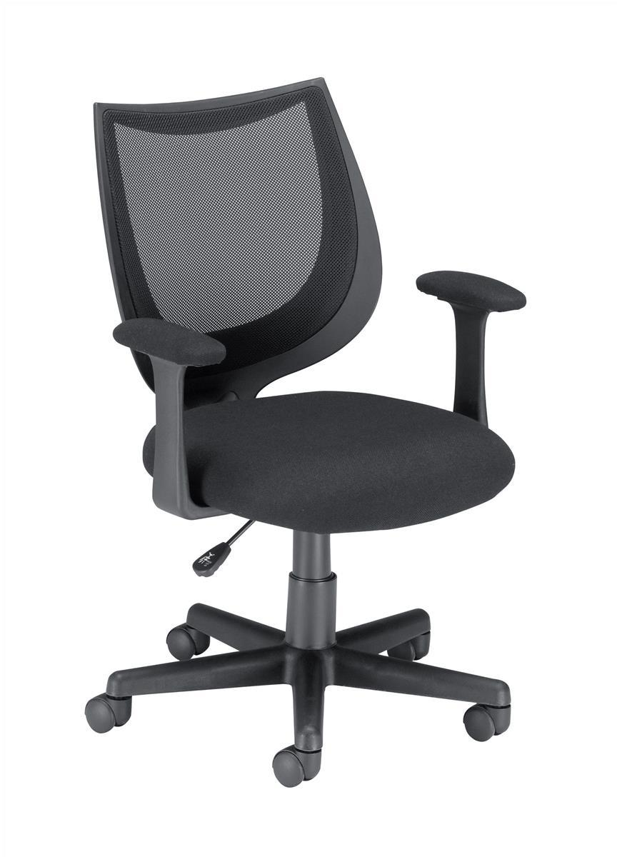 Image for Influx Gleam SoHo Operator Armchair Mesh Seat W470xD480xH410-510mm Black Ref 11027-03