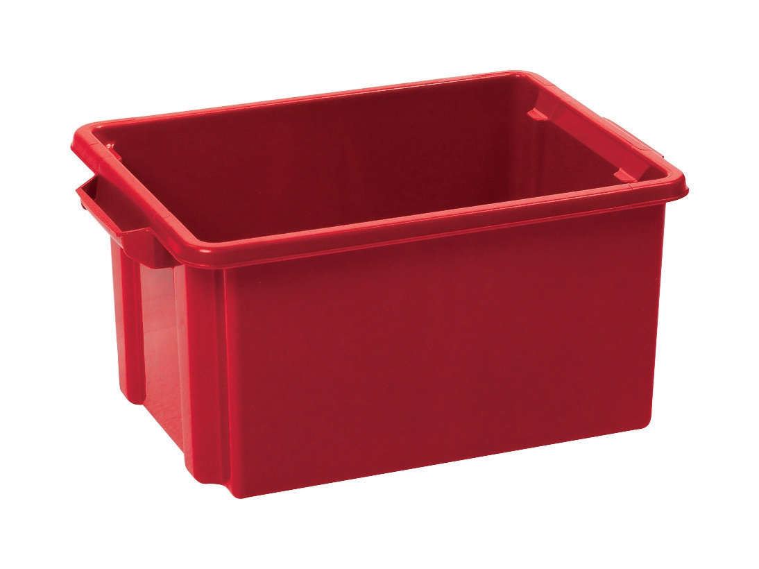 Image for Strata Storemaster Crate Jumbo External W560xD385xH280mm 48.5 Litres Red Ref HW48