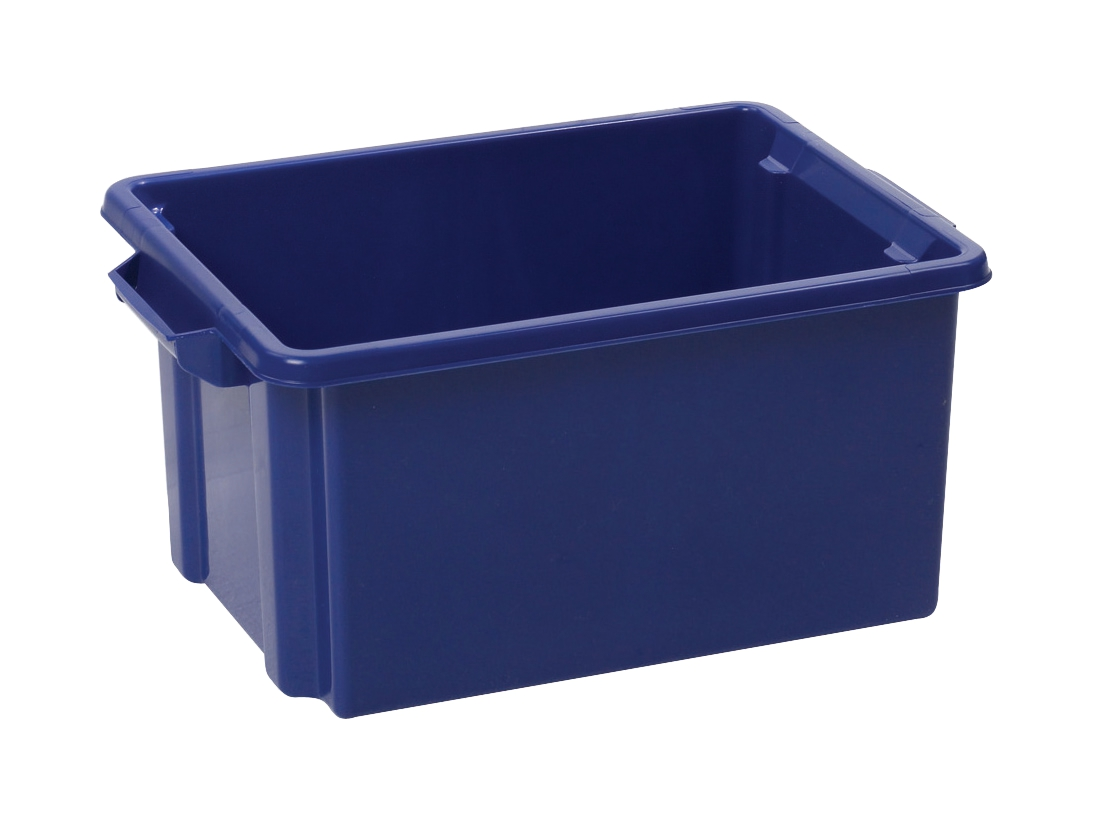 Image for Strata Storemaster Crate Jumbo External W560xD385xH280mm 48.5 Litres Blue Ref HW48