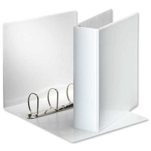 Image for Esselte Presentation Ring Binder Polypropylene 4 D-Ring 60mm A4 White Ref 49706