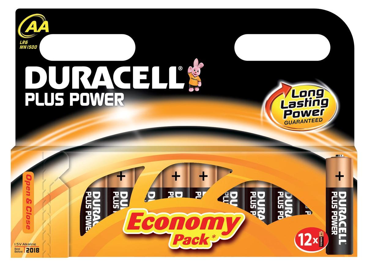 Image for Duracell Plus Power Battery Alkaline 1.5V AA Ref 81275378 [Pack 12]