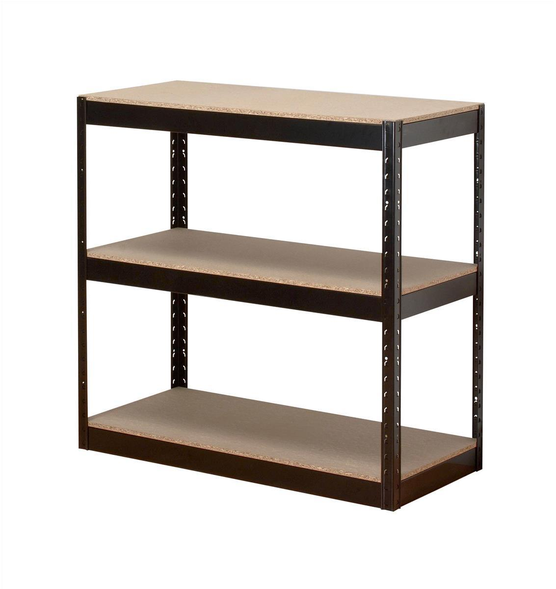 Image for Influx Storage Shelving Unit Heavy-duty Boltless 3 Shelves Capacity 3x 150kg W950xD450xH940mm Black