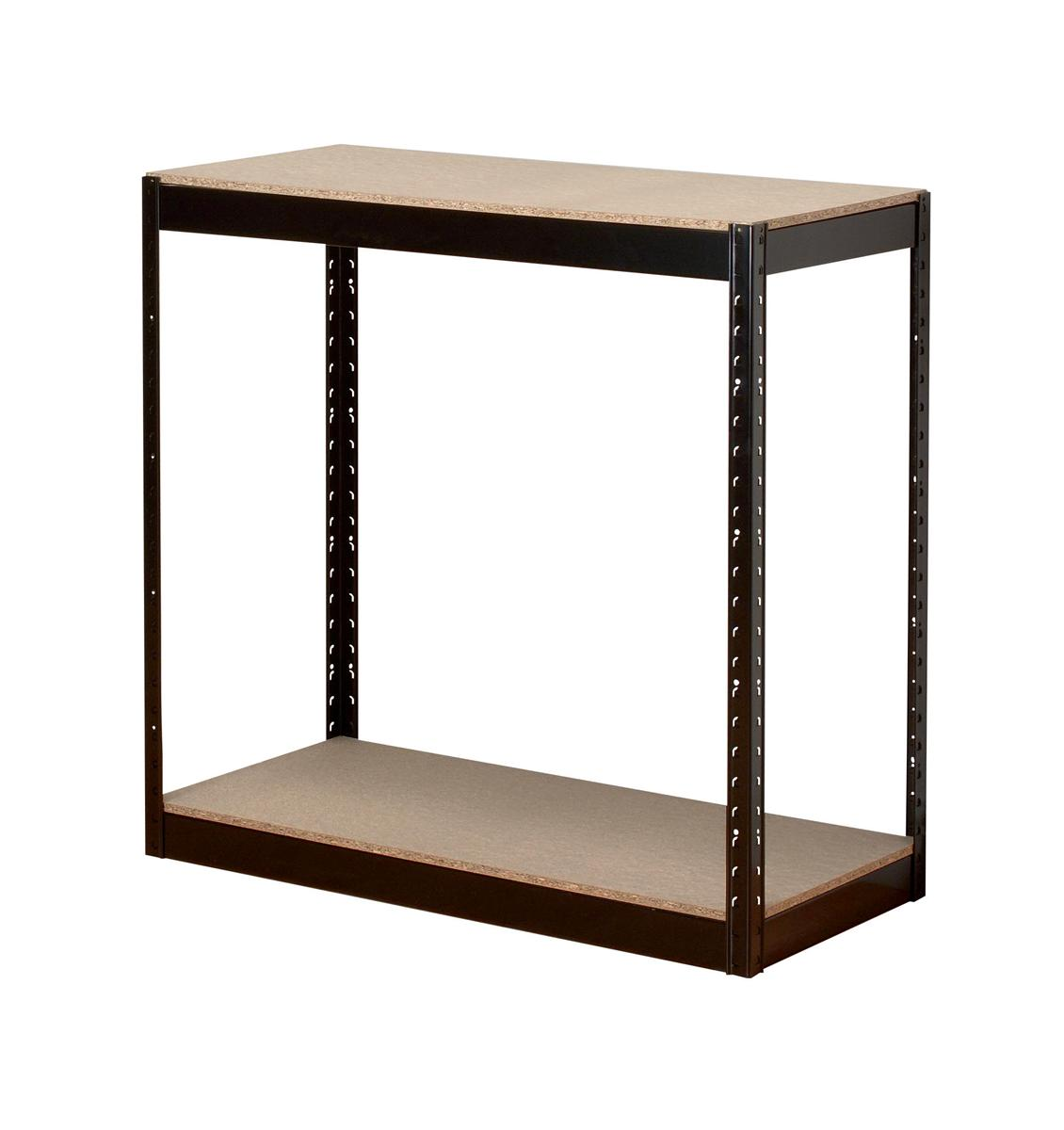 Image for Influx Storage Shelving Unit Heavy-duty Boltless 2 Shelves Capacity 2x 150kg W950xD450xH940mm Black