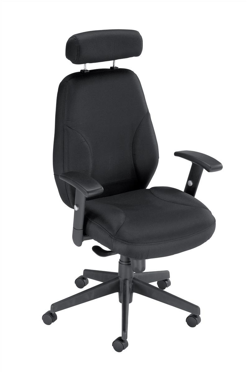 Image for Influx Energize Driver Armchair Seat W520xD480xH500-640mm Black Ref 11185-01Blk