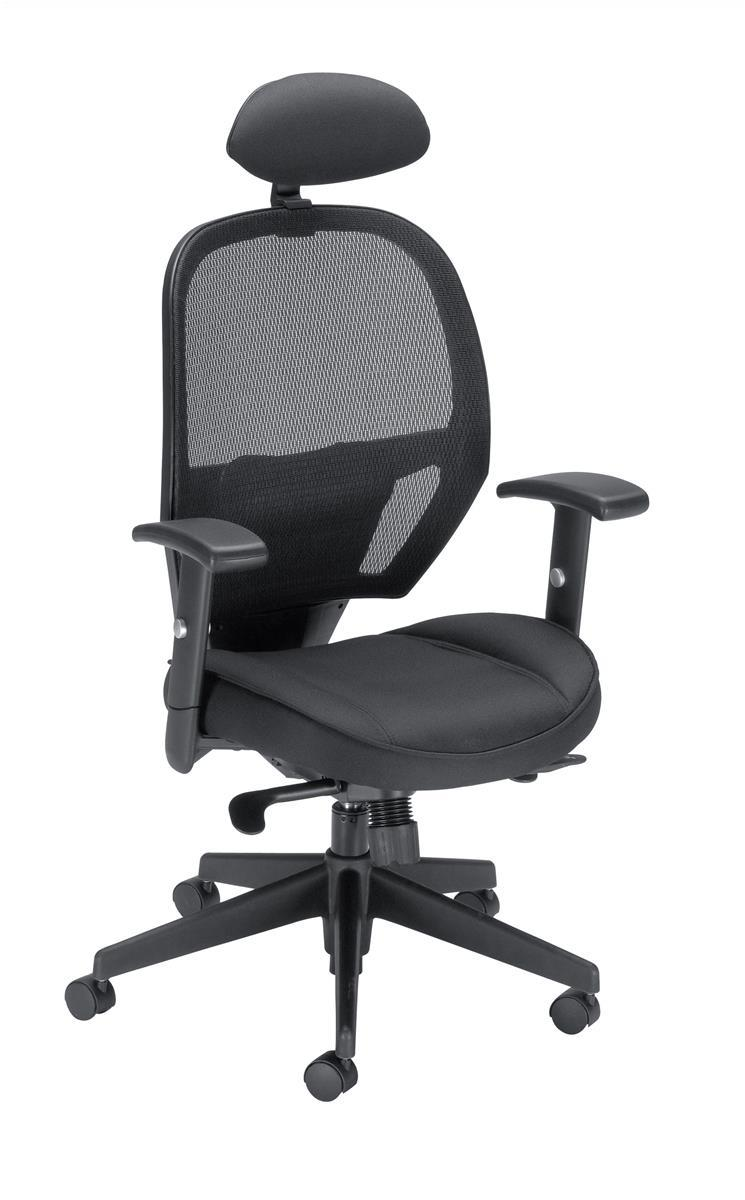 Image for Influx Amaze Chair Synchronous with Head Rest Mesh Seat W520xD520xH470-600mm Black Ref 11186-01Blk