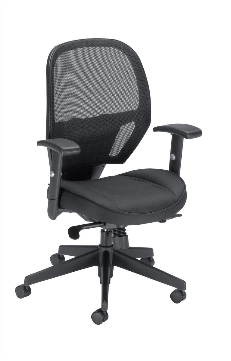 Image for Influx Amaze Chair Synchronous Mesh Seat W520xD520xH470-600mm Black Ref 11186-02Blk