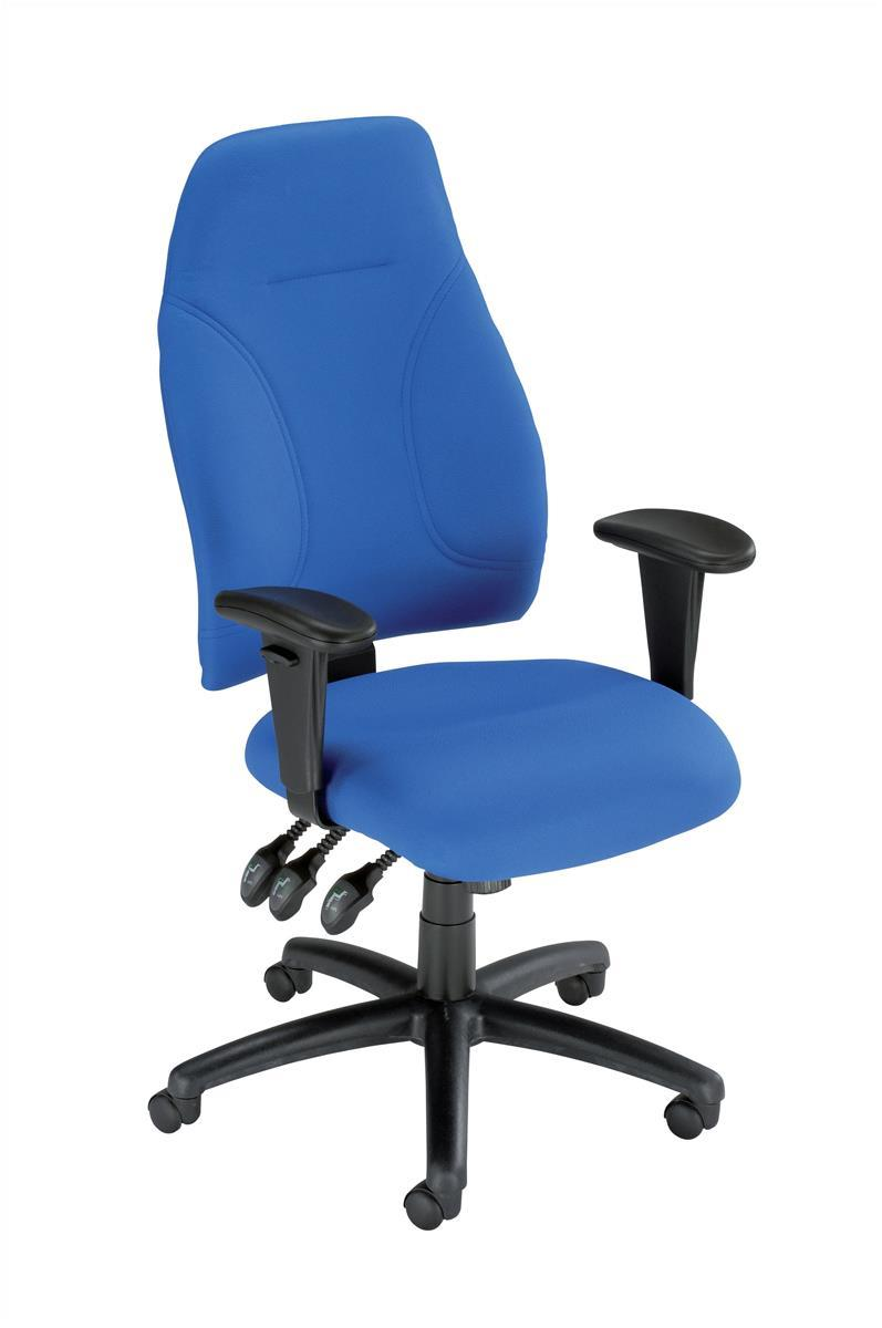 Image for Influx Posture High Back Asynchronous Armchair Seat W500xD500xH420-530mm Blue