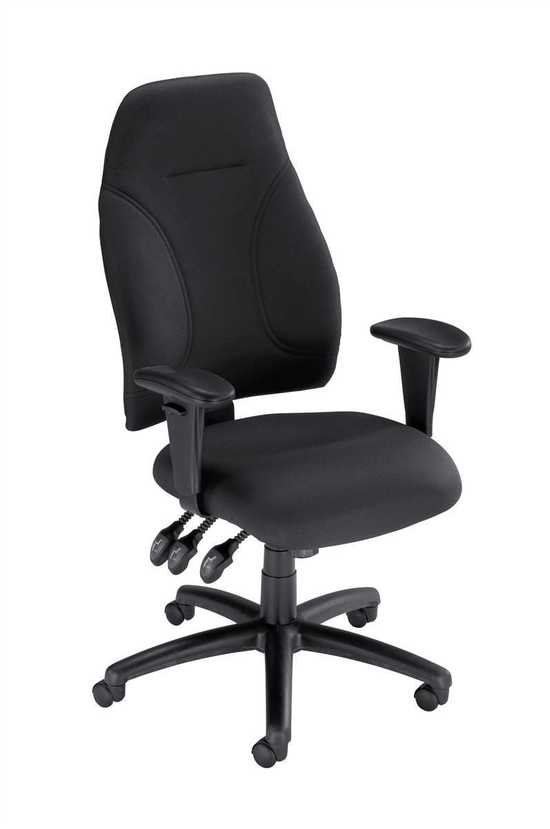 Image for Influx Posture High Back Asynchronous Armchair Seat W500xD500xH420-530mm Black