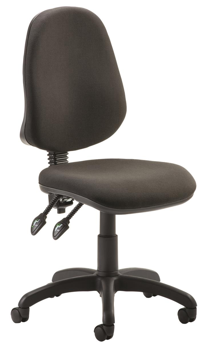 Image for Trexus Operator Chair Flat Packed Fabric Black