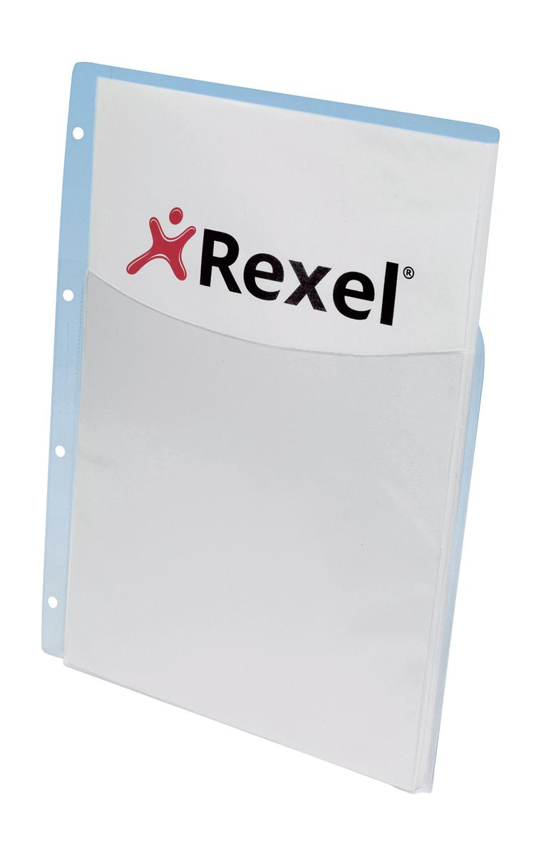 Image for Rexel Nyrex Pocket Punched 4-Hole Half-size Extra Capacity 250 Sheets A4 Ref 13680 [Pack 5]