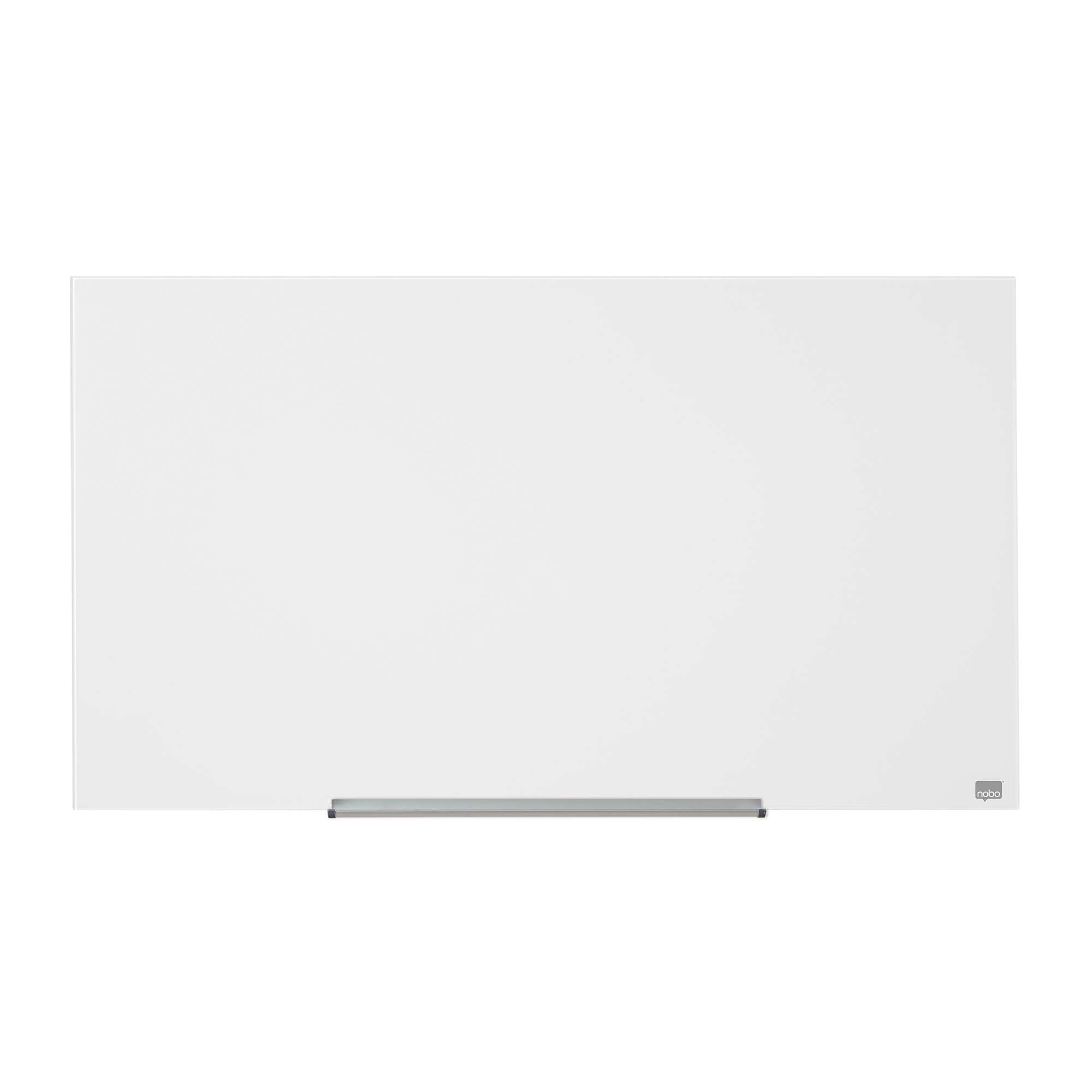 Magnetic Nobo Widescreen 57 inch WBrd Glass Magnetic Scratch-Resistant Fixings Inc W1260xH710mm Wht Ref 1905177
