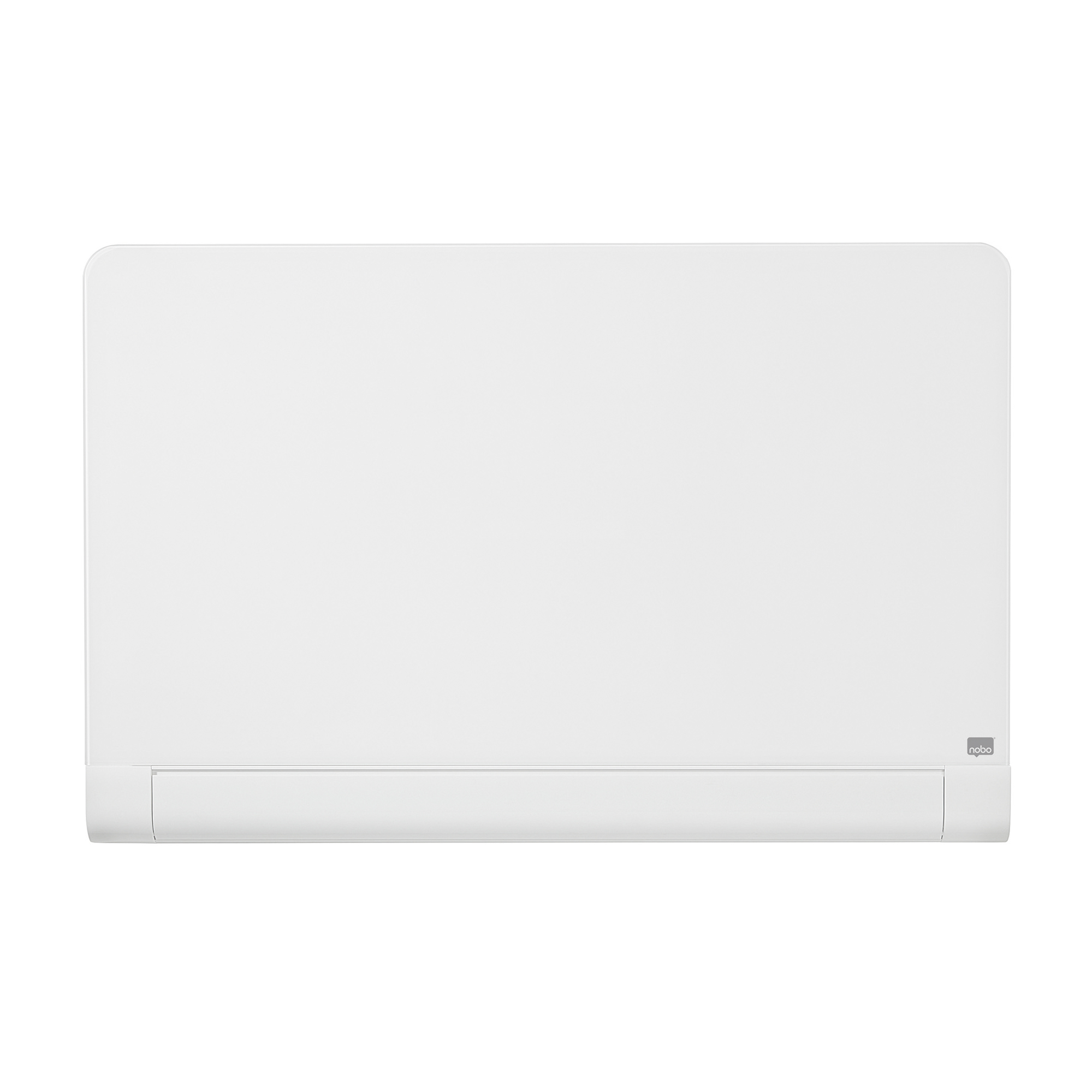 Magnetic Nobo Widescreen 57 inch WhiteBoard Glass Rnd Cnr Magnetic Fixing Inc W1260xH710mm Brill White Ref 1905192