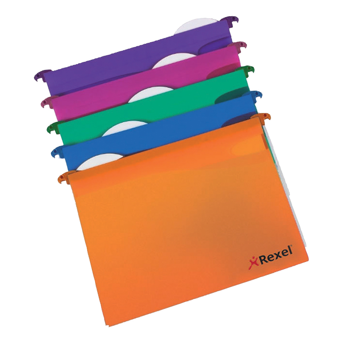 Rexel Multifile Extra Suspension File Polypropylene 30mm Wide-base Foolscap Assorted Ref2102574 [Pack 10]