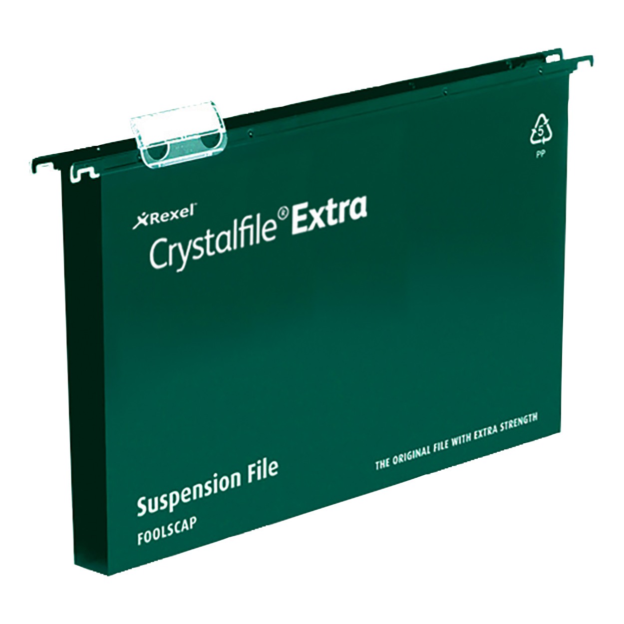Suspension File Rexel Crystalfile Extra Suspension File Polypropylene 30mm Wide-base A4 Green Ref 71759 Pack 25
