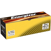 Energizer Industrial Battery Long Life LR20 1.5V D Ref 636108 Pack 12