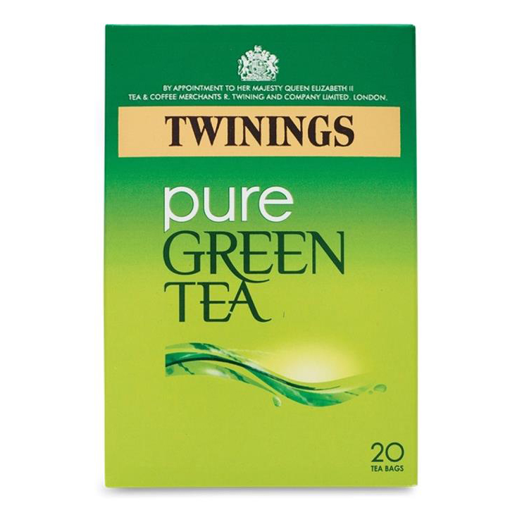 Tea Twinings Pure Green Tea Bags Individually-wrapped Ref 0403258 Pack 20
