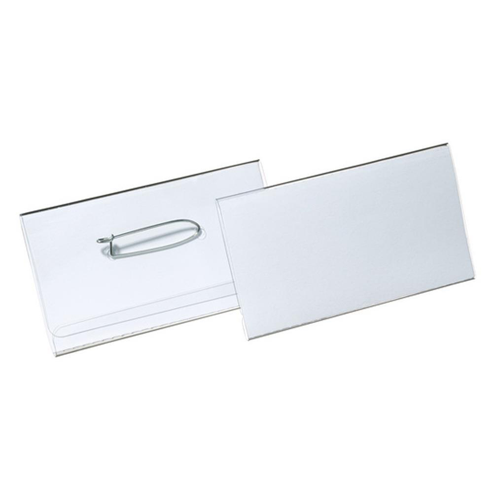 Holders Durable Name Badges Combi Clip for Pin or Clip to Clothing 40x75mm Ref 8141-19 Pack 50