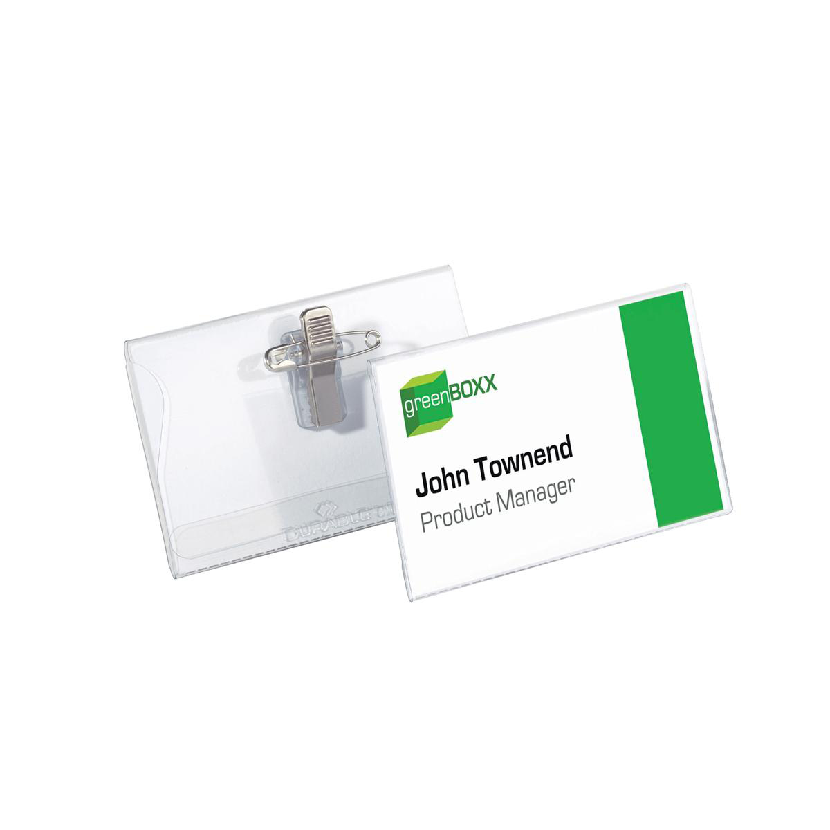 Durable Name Badges Combi Clip for Pin or Clip to Clothing 40x75mm Ref 8141-19 Pack 50