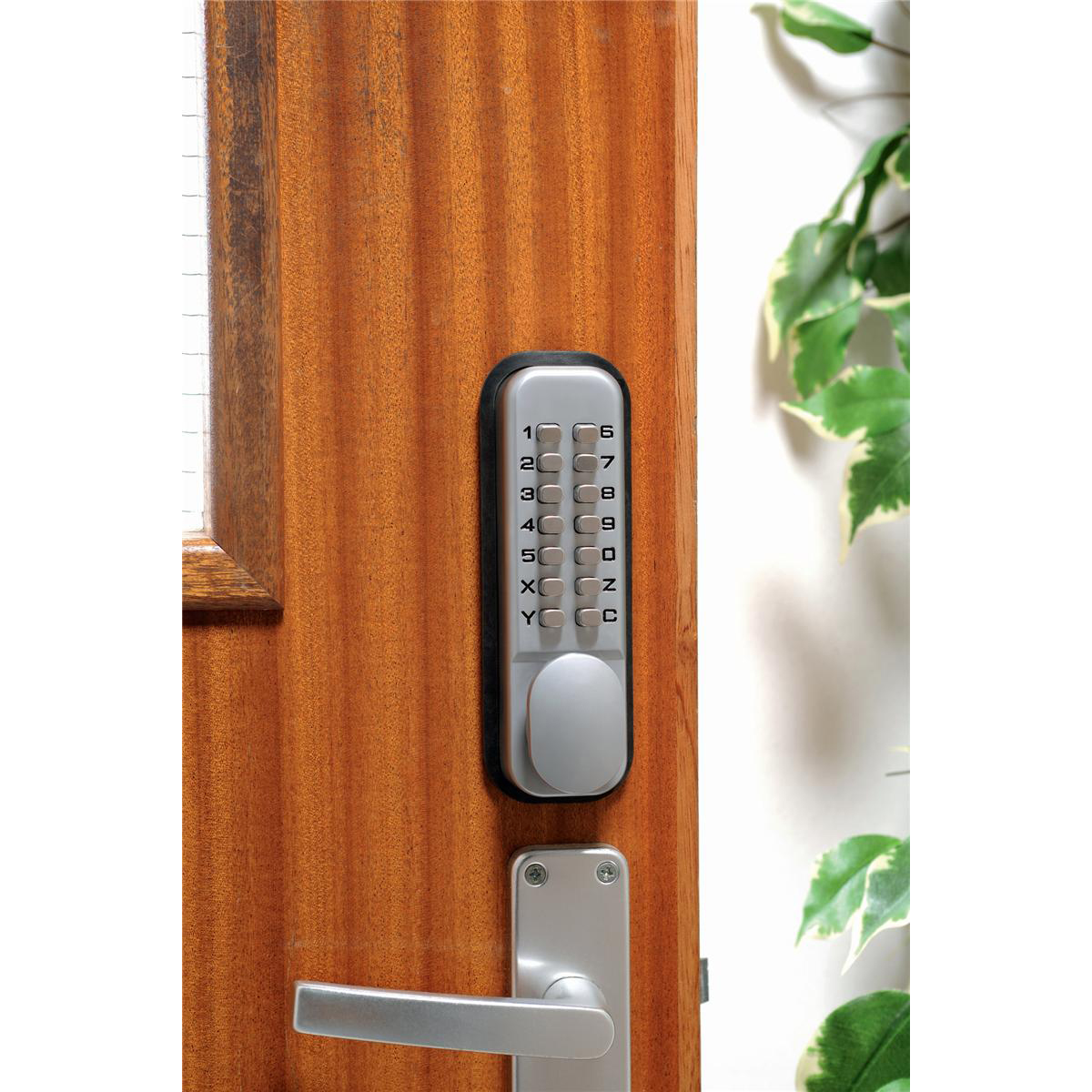 Image for Mechanical Digital Door Lock Zinc Alloy with Fail Safe and 8000 Possible Combinations Ref DXLOCKITHB/C