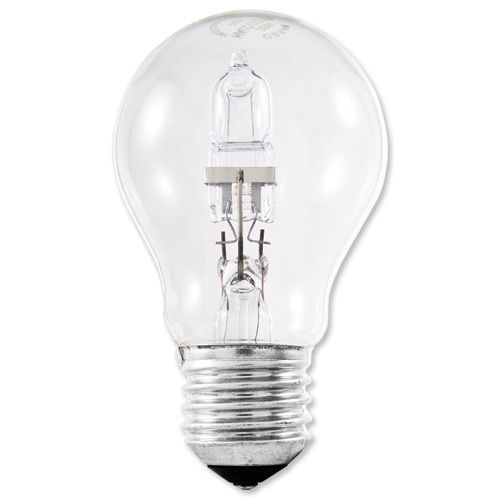 Image for GE Bulb Halogen 77W E27 GLS Screw Fitting Energy Saving Dimmable Clear Ref 79423
