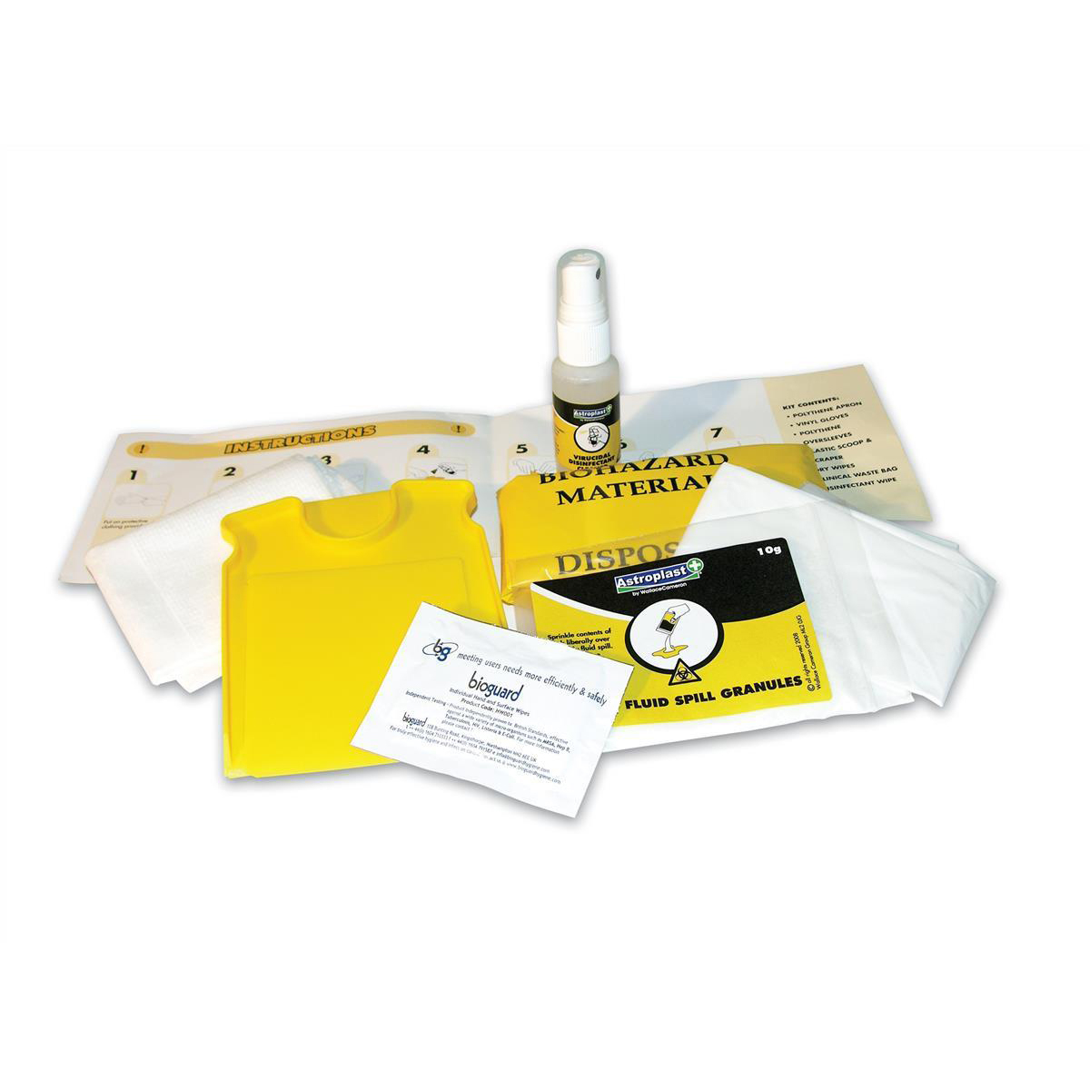 First aid kit Wallace Cameron Astroplast Piccolo 2Application Refill for Body Fluid Kit Anti-Cross Infection Ref1012048