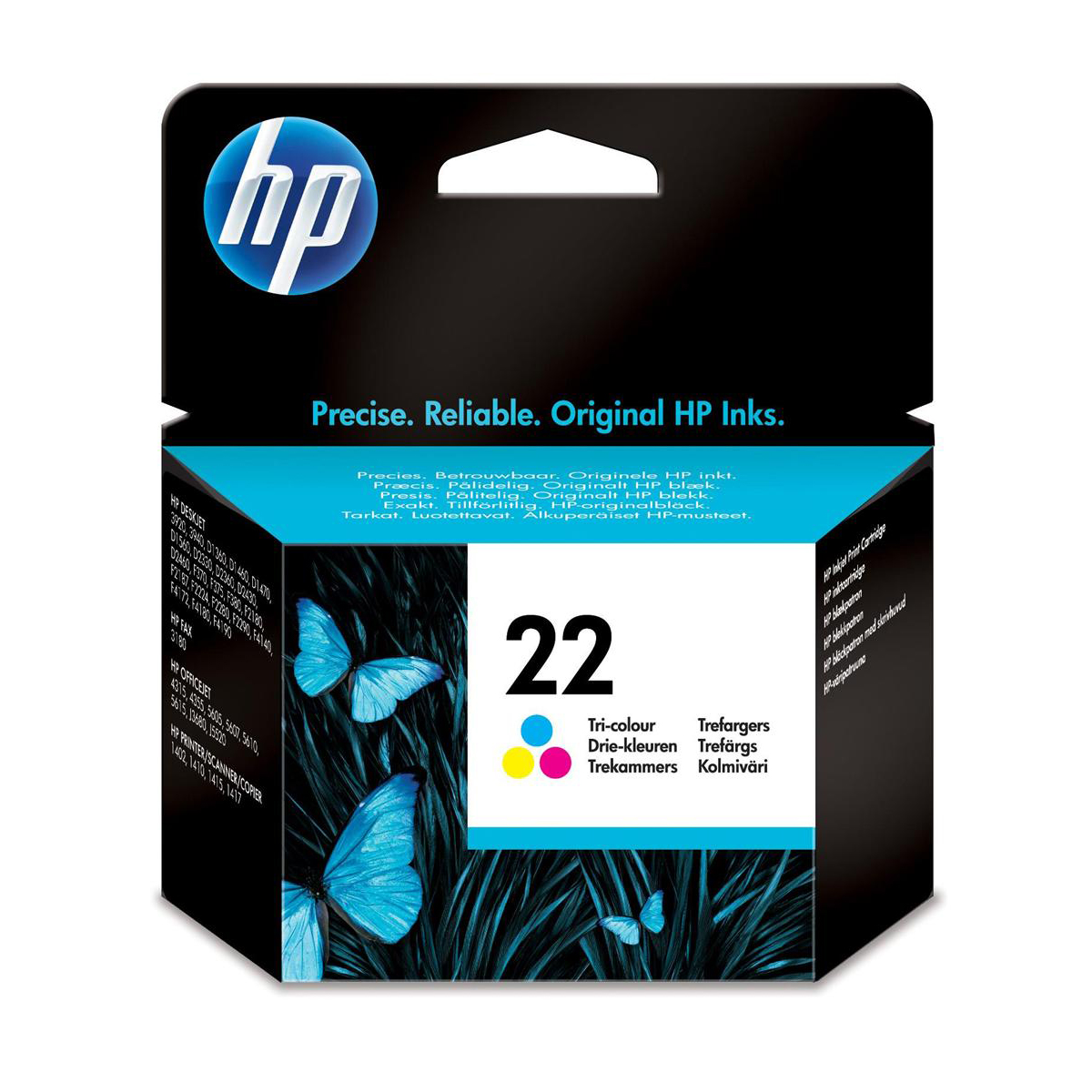 Hewlett Packard [HP] No.22 Inkjet Cartridge Page Life 165pp 5ml Colour Ref C9352AE